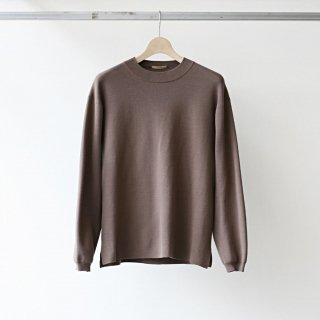 LAMOND /  KNIT CREW LONG SLEEVE (mocha)