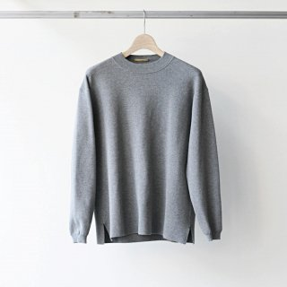 LAMOND /  KNIT CREW LONG SLEEVE (杢gray)