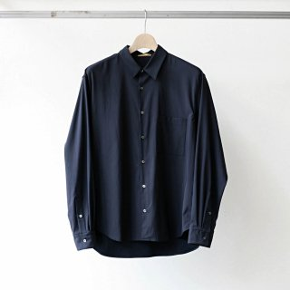 LAMOND /  back satin relax shirt (navy)
