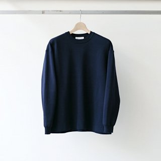 bunt / cotton crew neck sweater (navy)