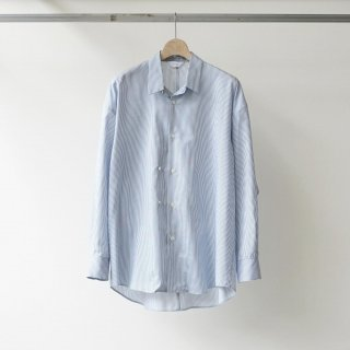 THEE / double-buttoned shirts (blue×white)