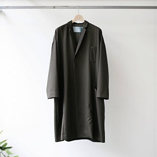 Dulcamara / yosoiki panel pocket coat (brown)