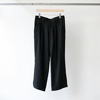 CITY / ankle length flared pants (black)