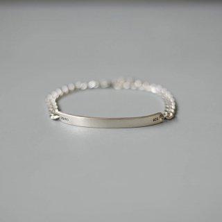20/80 - sterling silver id bracelet 5mm width
