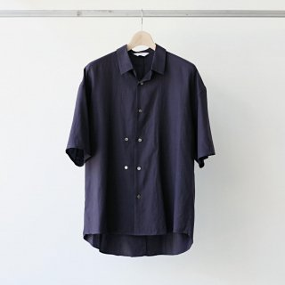 THEE / double-buttoned short sleeve shirts (purple)