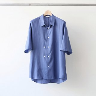 THEE / double-buttoned short sleeve shirts (blue)