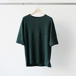 CITY / city linen football kimono tee (dark green)