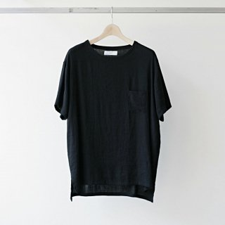 THEE / linen tee (black)