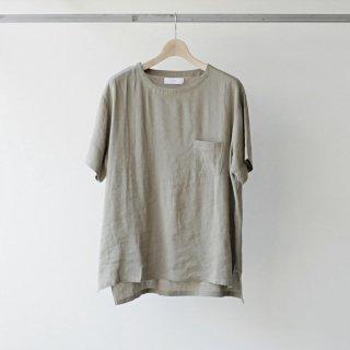 THEE / linen tee (beige)