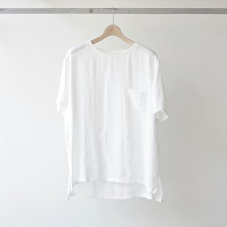 THEE / linen tee (white)