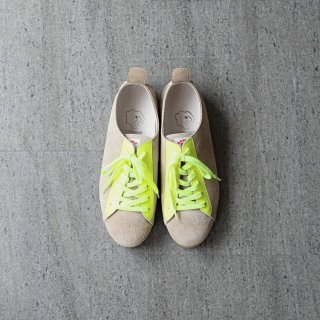 <img class='new_mark_img1' src='https://img.shop-pro.jp/img/new/icons54.gif' style='border:none;display:inline;margin:0px;padding:0px;width:auto;' />DOUBLE FOOT WEAR - Hermann Bright (beige × yellow)