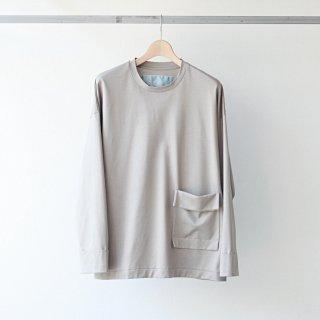 Dulcamara - ロールスリーブロンT (gray beige)
