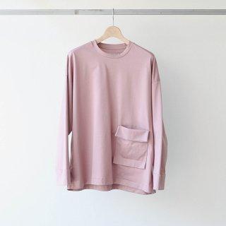 Dulcamara - ロールスリーブロンT (gray pink)