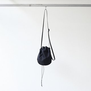20/80 - RIP STOP NYLON HALF CIRCLE SHOULDER BAG (BLACK)