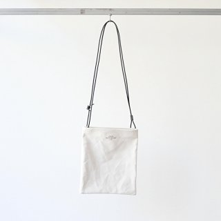 20/80 - CANVAS #6 TWO BAGS WITH LEATHER STRAP (WH/BK)