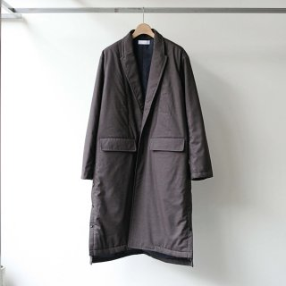 THEE - padded gown coat (brown)