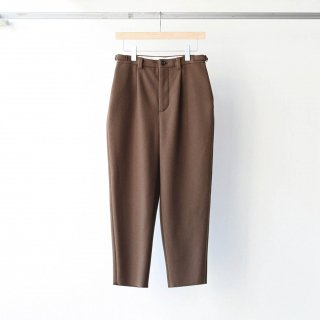foof - super 100's 2 tuck pants (brown)