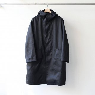 SOUMO - BIG POCKET HOOD COAT (BLACK)