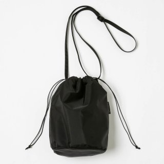20/80 - RIP STOP NYLON × BOA DRAWSTRING SMALL SHOULDER BAG (BLACK)