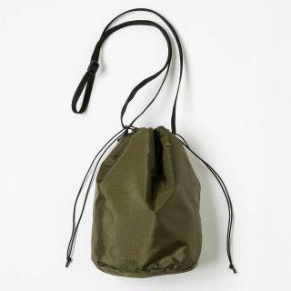20/80 - RIP STOP NYLON × BOA DRAWSTRING SMALL SHOULDER BAG (OLIVE)