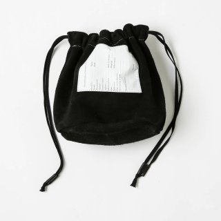 20/80 - COW SUEDE PERSONAL EFFECTS BAG (BLACK)