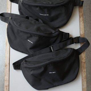 BREATHE. (ever so soft) - INSTRUCTION WAIST BAG 'LISTEN TO THE SILENCE' (BLACK)
