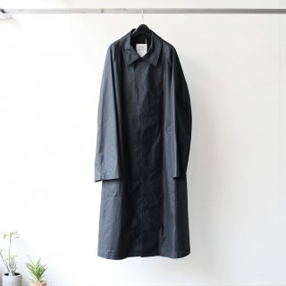 SOUMO - STRAPED BALMACAAN COAT (CHARCOAL)