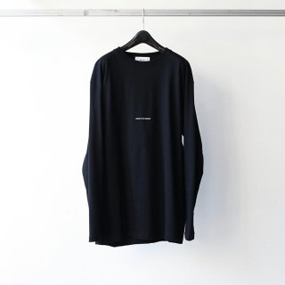 BREATHE. (ever so soft) - INSTRUCTION LS TEE 'LISTEN TO THE SILENCE' (BLACK)