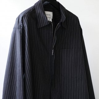 SOUMO - SKIPPER ZIP SHRTS LONG (CHARCOAL STRIPE)