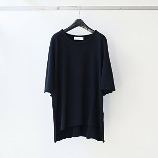 THEE - poncho knit t-shirts (BLACK)