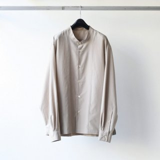LAMOND - BAND COLLAR SHIRTS (GREY BEIGE)