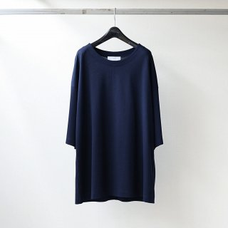 THEE - over size kanoko tee (NAVY)