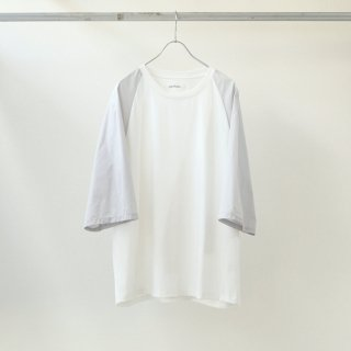 prasthana - switch raglan M/S (white × light grey)
