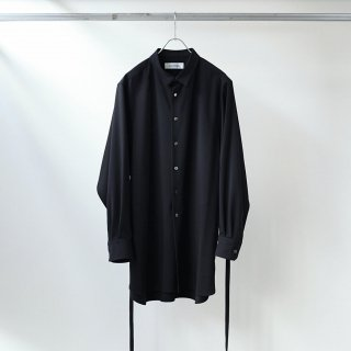 prasthana - strings long shirt (black)