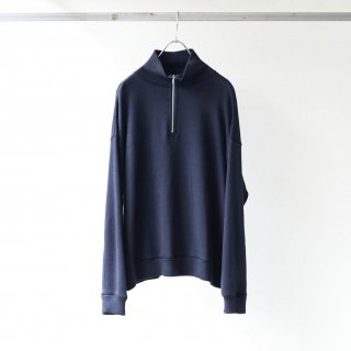 bunt - REVERSE SWEAT HALF ZIP SHIRTS (NAVY)