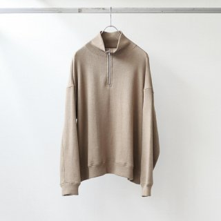 bunt - REVERSE SWEAT HALF ZIP SHIRTS (BROWN)