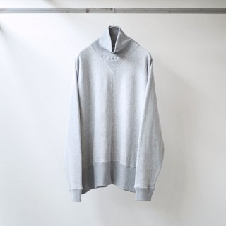 bunt - LOOP WHEEL HI NECK SWEAT SHIRTS (GRAY)