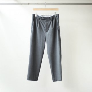 foof - wool one tuck slacks (grey)