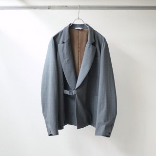 foof - wool unconstructed jacket (grey)