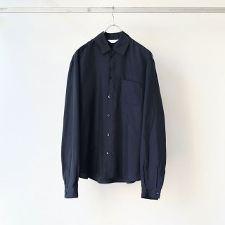 THEE - long epaulette shirts (navy)