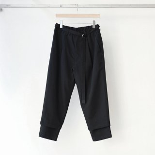 prasthana - 残響 belted trousers (black)