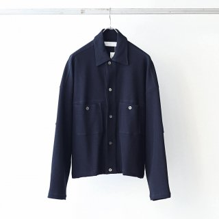 bunt - KNITTED CORDUROY BIG YORK JACKET (NAVY)