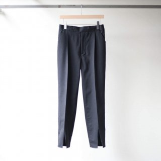 SOUMO - SLIT EASY TROUSERS (Charcoal Stripe)