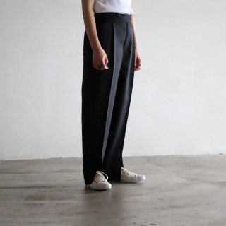 SOUMO - SLIT EASY TROUSERS (Black)
