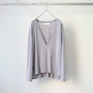 THEE - wool deep v-neck knit (oatmeal)