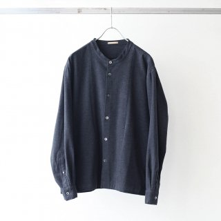 LAMOND - MOLESKIN STRETCH BAND COLLAR JACKET (CHARCOAL杢)