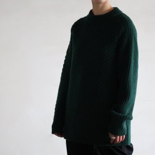 SOUMO - IRREGULAR KNIT SWEATER (GREEN)