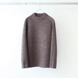 SOUMO - IRREGULAR KNIT SWEATER (LIGHT BROWN)