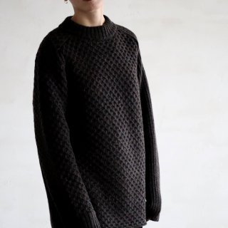 SOUMO - IRREGULAR KNIT SWEATER (CHARCOAL BROWN)