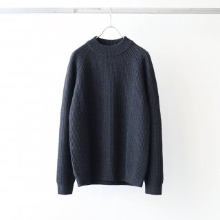 bunt - GRANDFATHER CREW NECK SWEATER (Charcoal)